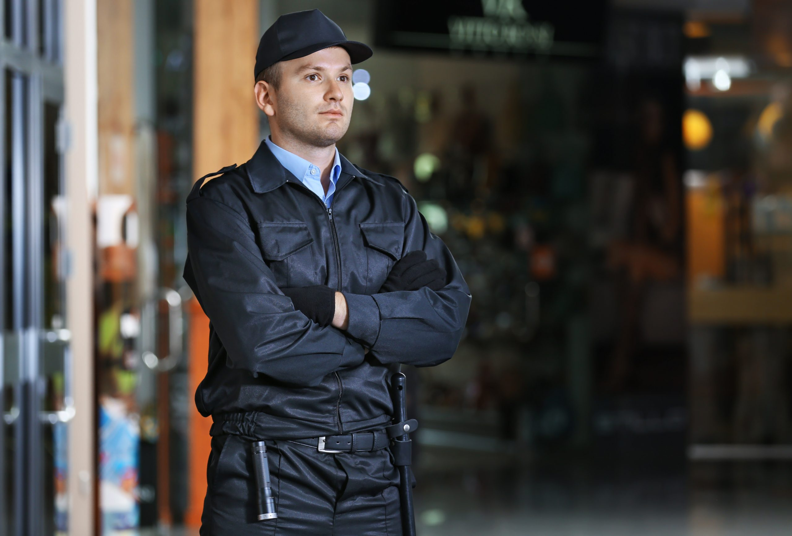 Security,Man,Standing,Indoors